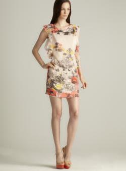 Buffalo Soleil Floral Ruffle Flutter Dress
