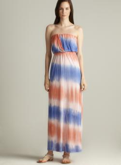 Tresics Strapless Tie Dye Maxi Dress
