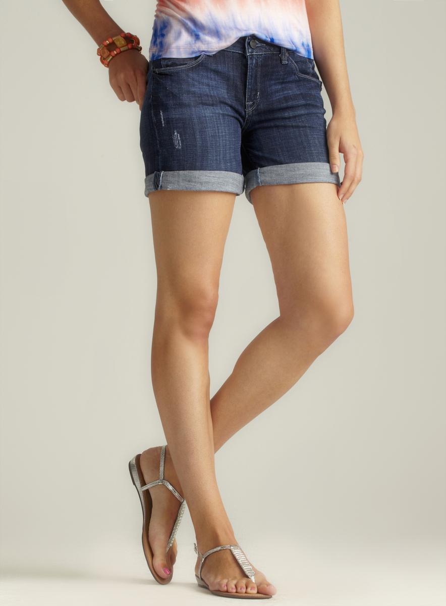 Fragile Cuffed Denim Shorts