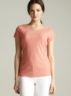 Calvin Klein Short Sleeved Lace Top