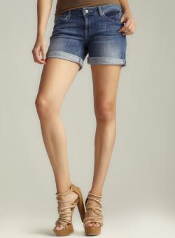 Fragile Roll Cuff Denim Shorts