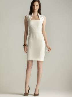 Marc New York Lapel Neck Sheath Dress