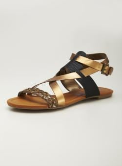 Rebels Flat Ankle Strap Sandal