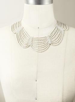 Stein & Blye Beaded Collar Necklace