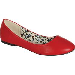 Women's Beston Daisy-33 Red Synthetic Polyurethane