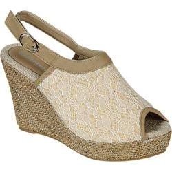 Women's Beston Echo-03-AR Beige Canvas Fabric