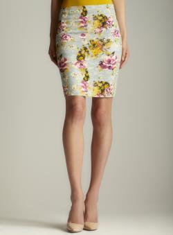 Darling Floral Pencil Skirt