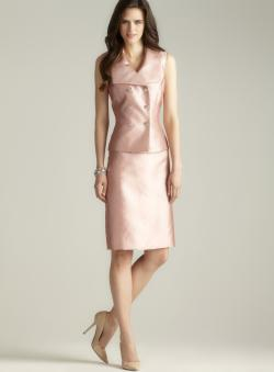 Tahari Double Breasted Skirt Suit