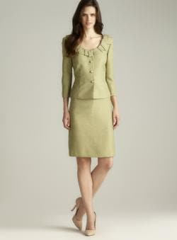 Tahari Three Button Skirt Suit