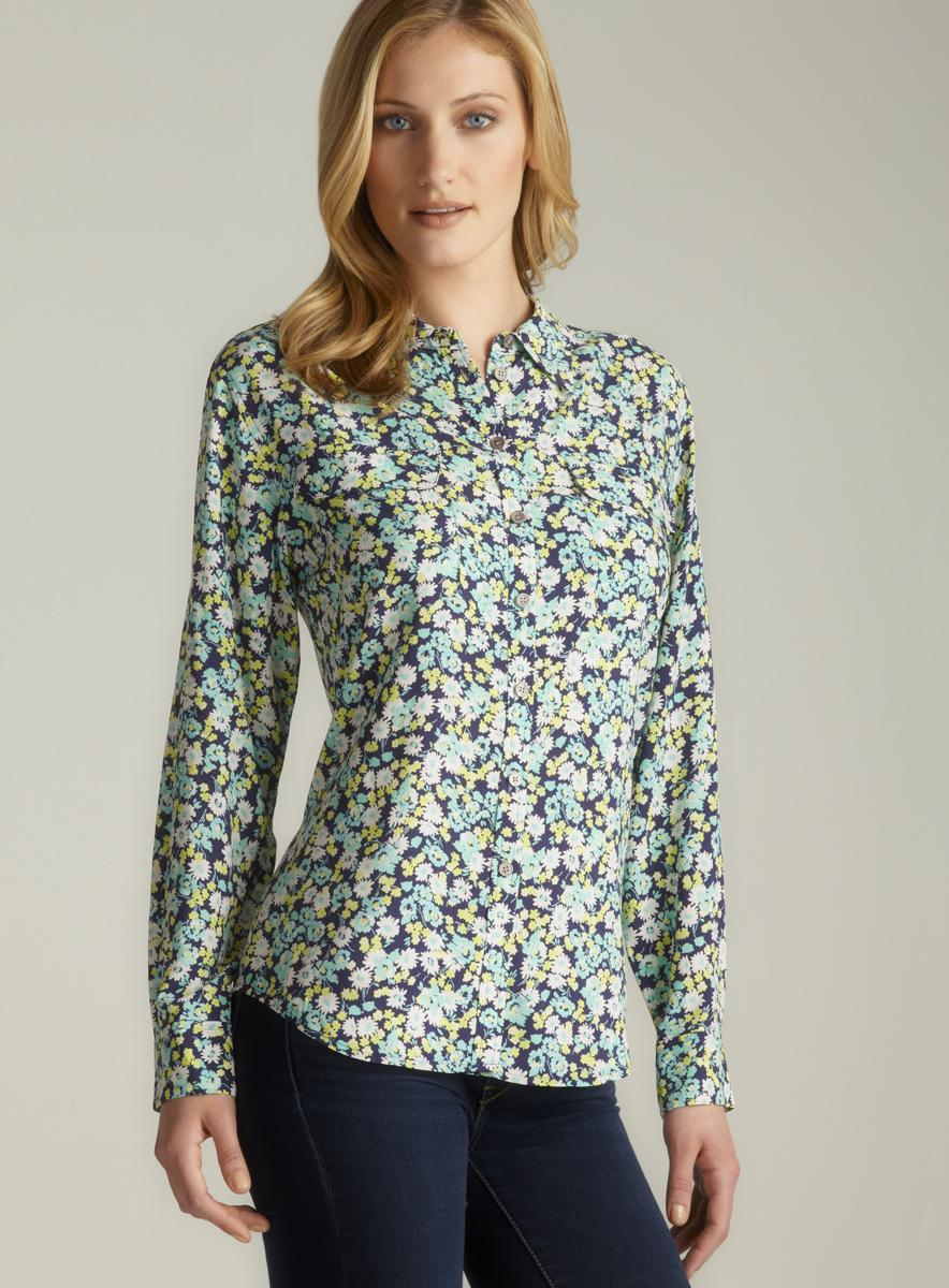 Two By Vince Camuto Vintage Floral Utility Shirt