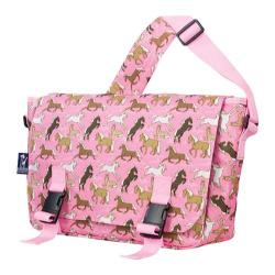 Wildkin Jumpstart Messenger Bag Horses in Pink