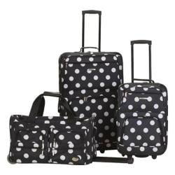 Rockland 3 Piece Luggage Set F165 Black Dot