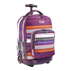 J World Sundown 18in Rolling Backpack Horizon Purple