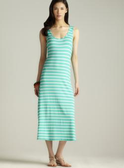 MSK Aqua Striped Maxi Dress