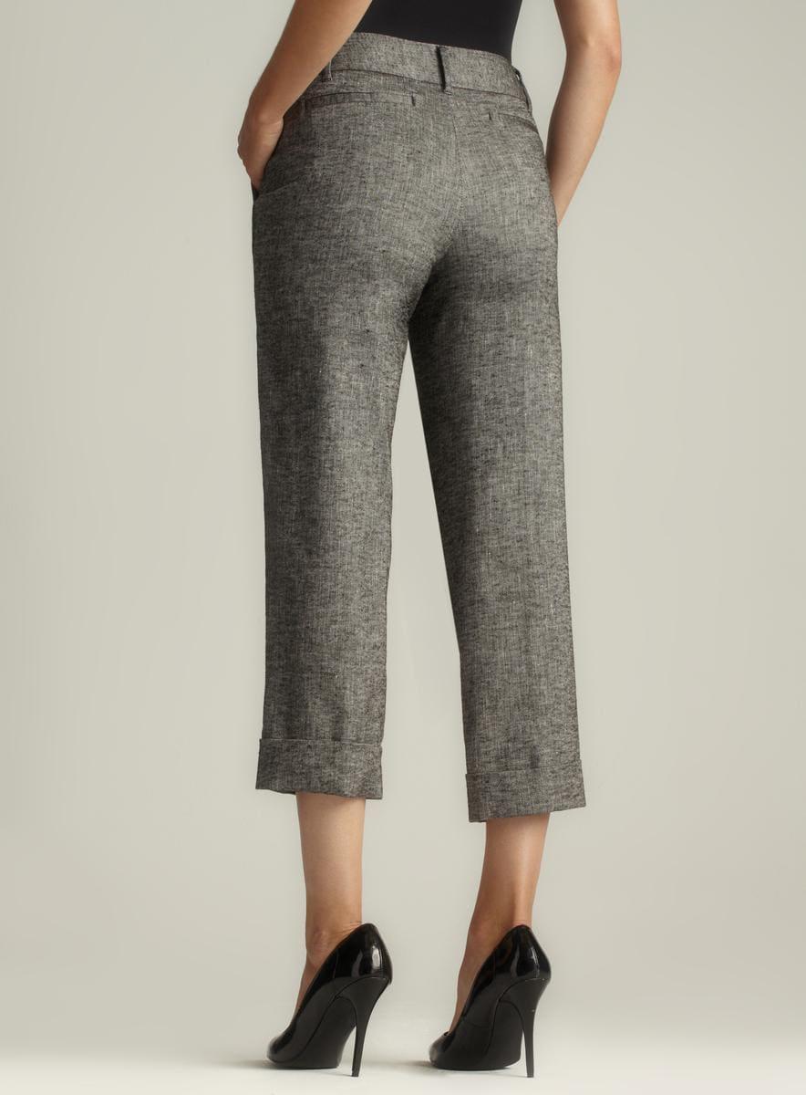 Isda & Co Cuffed Hem Tweed Linen Pant