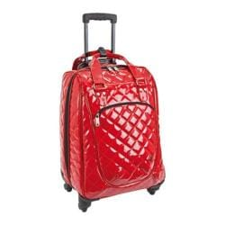 Athalon Euro 20-inch Carry On with Spinner Wheels Patent Cherry