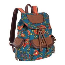 Women's Sakroots Artist Circle Backpack Lagoon True Love