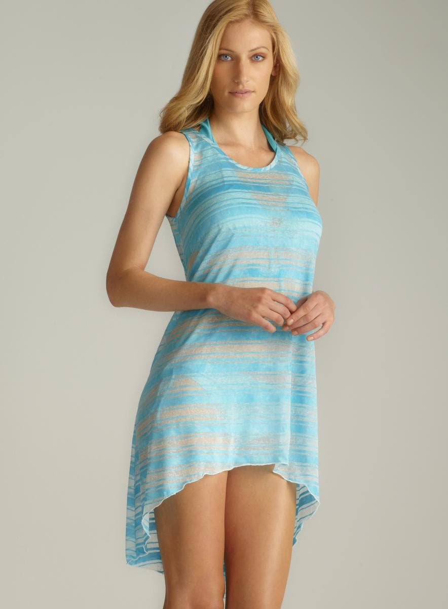 Jordan Taylor Scoop Neck Striped Hi-Lo Cover-Up