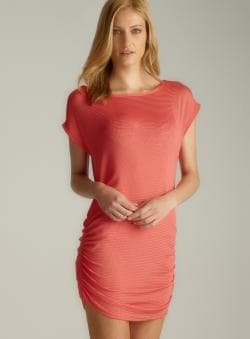 Jordan Taylor Side Ruched Mesh Cover-Up