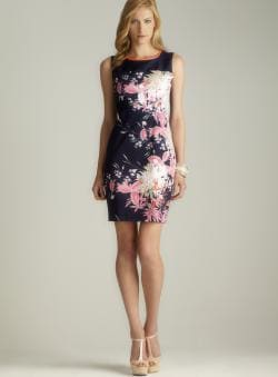 Tahari Sleeveless Floral Sheath Dress