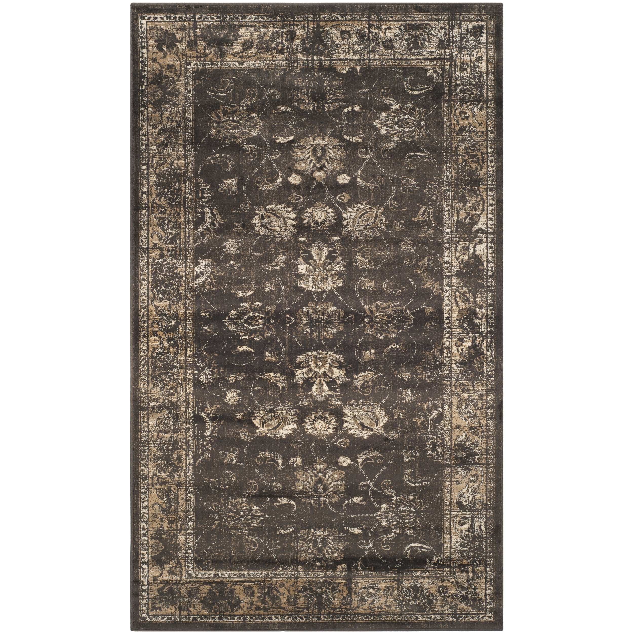 Safavieh Vintage Soft Anthracite Viscose Area Rug (2'7 x 4')