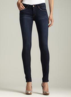 Fragile Flirtatious Anklet Cuffed Skinny Stretch Jean