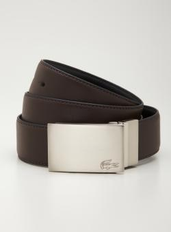 Lacoste Silver Plaque Reversible Belt