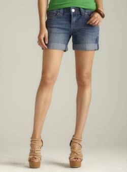 Seven7 Signature Pocket Cuffed Denim Shorts