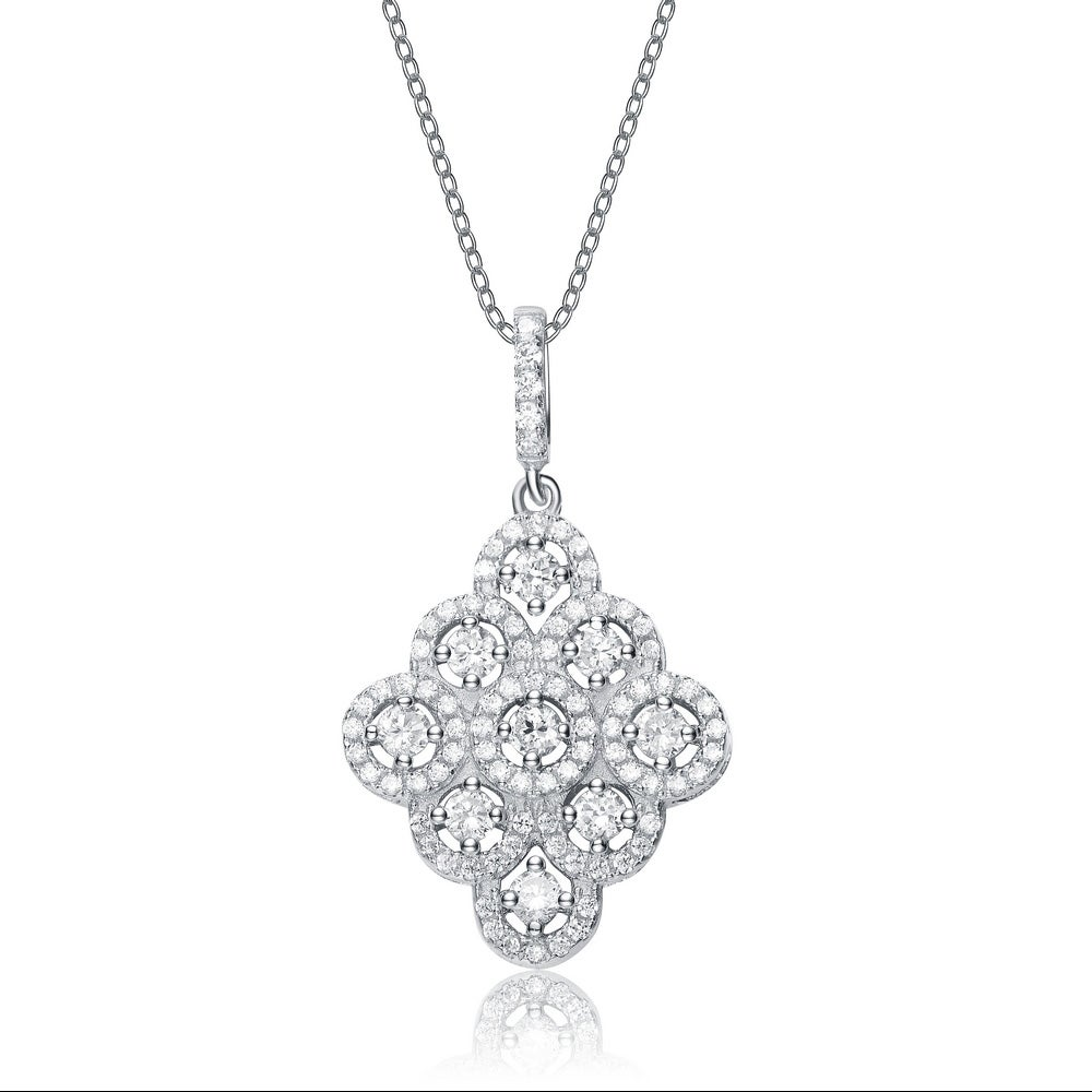 Collette Z Sterling Silver Cubic Zirconia Dangling Necklace