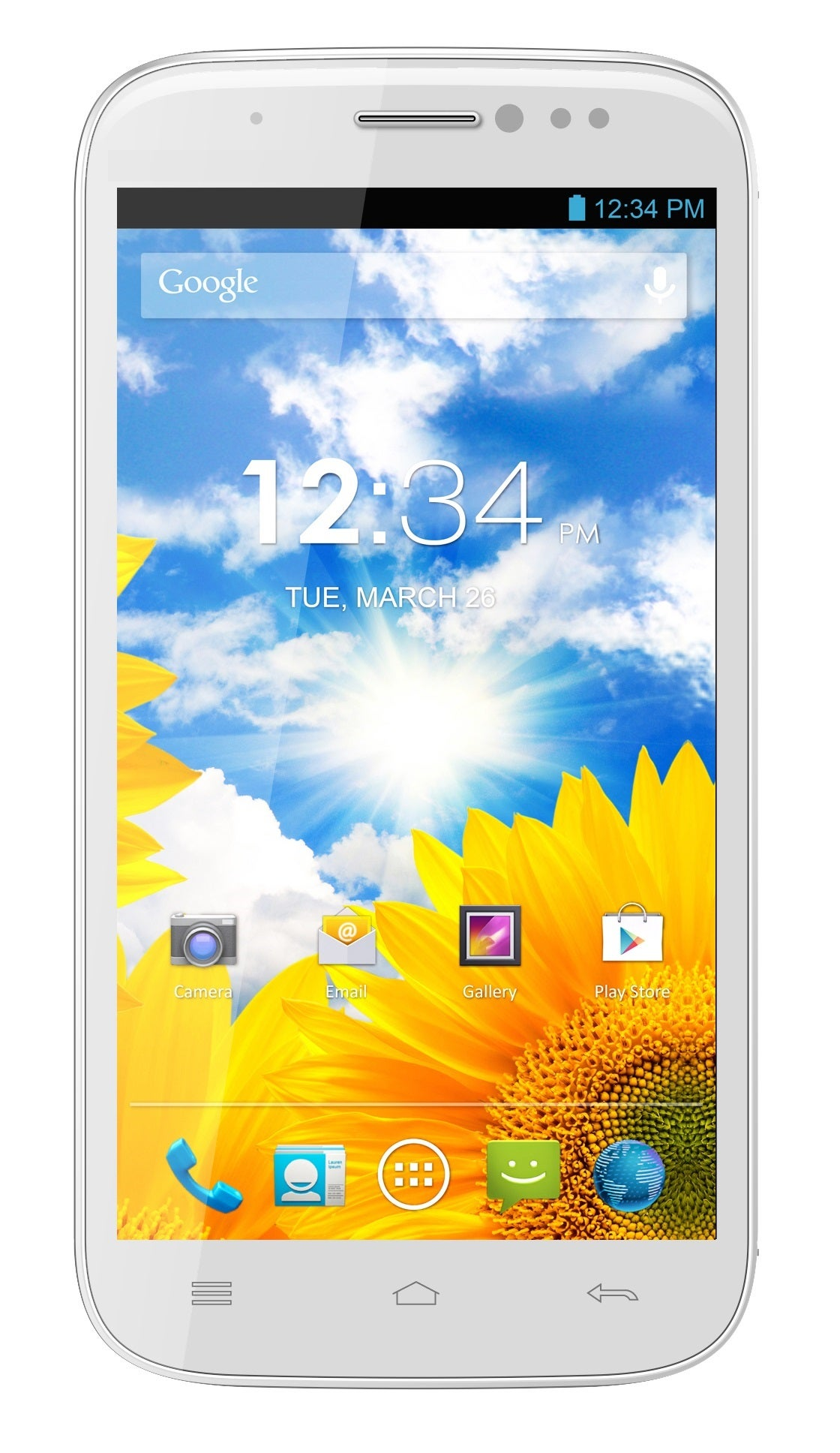 BLU Life View L110 GSM Unlocked Dual-SIM Android Phone - White