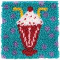 Wonderart Latch Hook Kit 12 X12 - Milkshake