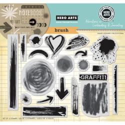 Hero Arts Cling Stamps - Brush Strokes