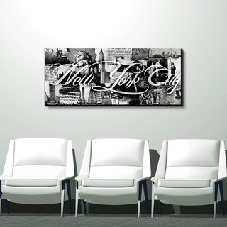 New York City' City Wrapped Canvas Wall Art
