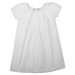 Embroidered Children's White Nightgown