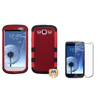 INSTEN TUFF Hybrid Phone Case Cover/ Screen Protector for Samsung Galaxy S3/ S III