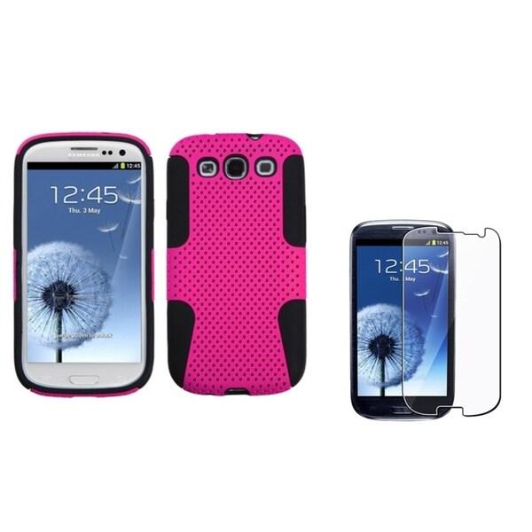 BasAcc Hybrid Case/ Screen Protector for Samsung Galaxy S3/ S III