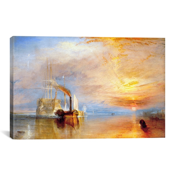 Joseph William Turner 'Fighting Temeraire' Canvas Art