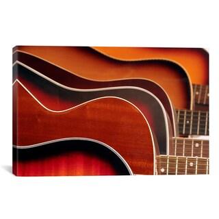 'Acoustic Guitar' Canvas Giclee Art Print