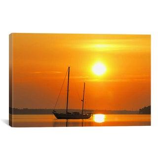 Sunrise Sail Boat Giclee Canvas Print Wall Art