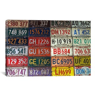 'State License Plates' Giclee Canvas Art Print