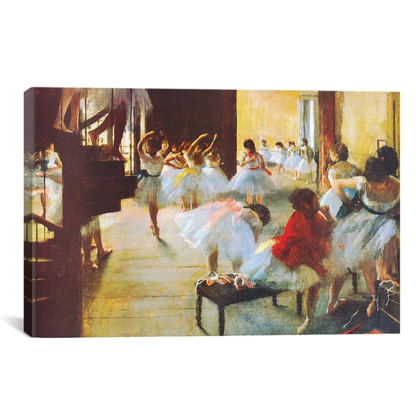 Edgar Degas 'Ecole de Danse (Dance School)' Canvas Wall Art
