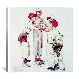Norman Rockwell 'Choosing Up (Four Sporting Boys: Baseball)' Canvas Art