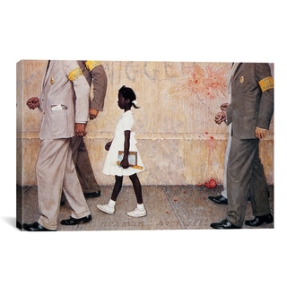 iCanvas Norman Rockwell 'The Problem We All Live with (Ruby Bridges)' Canvas Wall Art