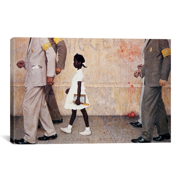 Norman Rockwell 'The Problem We All Live With (Ruby Bridges)' Canvas Wall Art