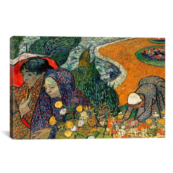 Vincent Van Gogh 'Ladies of Arle (Memories of The Garden at Etten)' Canvas Art