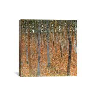 Gustav Klimt 'Forest of Beech Trees' Canvas Wall Art