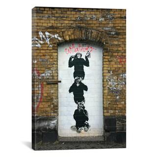 Banksy 'Monkey Business' Canvas Art