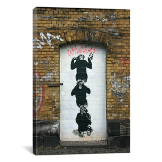 Banksy 'Monkey Business' Canvas Art