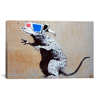 Banksy 'Banksy 3D Rat' Canvas Art