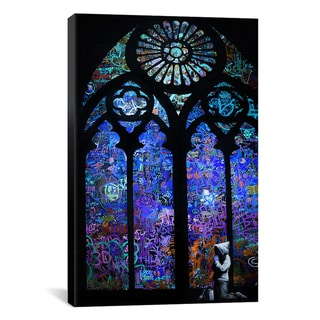 Banksy 'Stained Glass Window II' Canvas Art